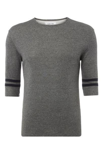 Hamilton & Hare three quarter sleeve shirt