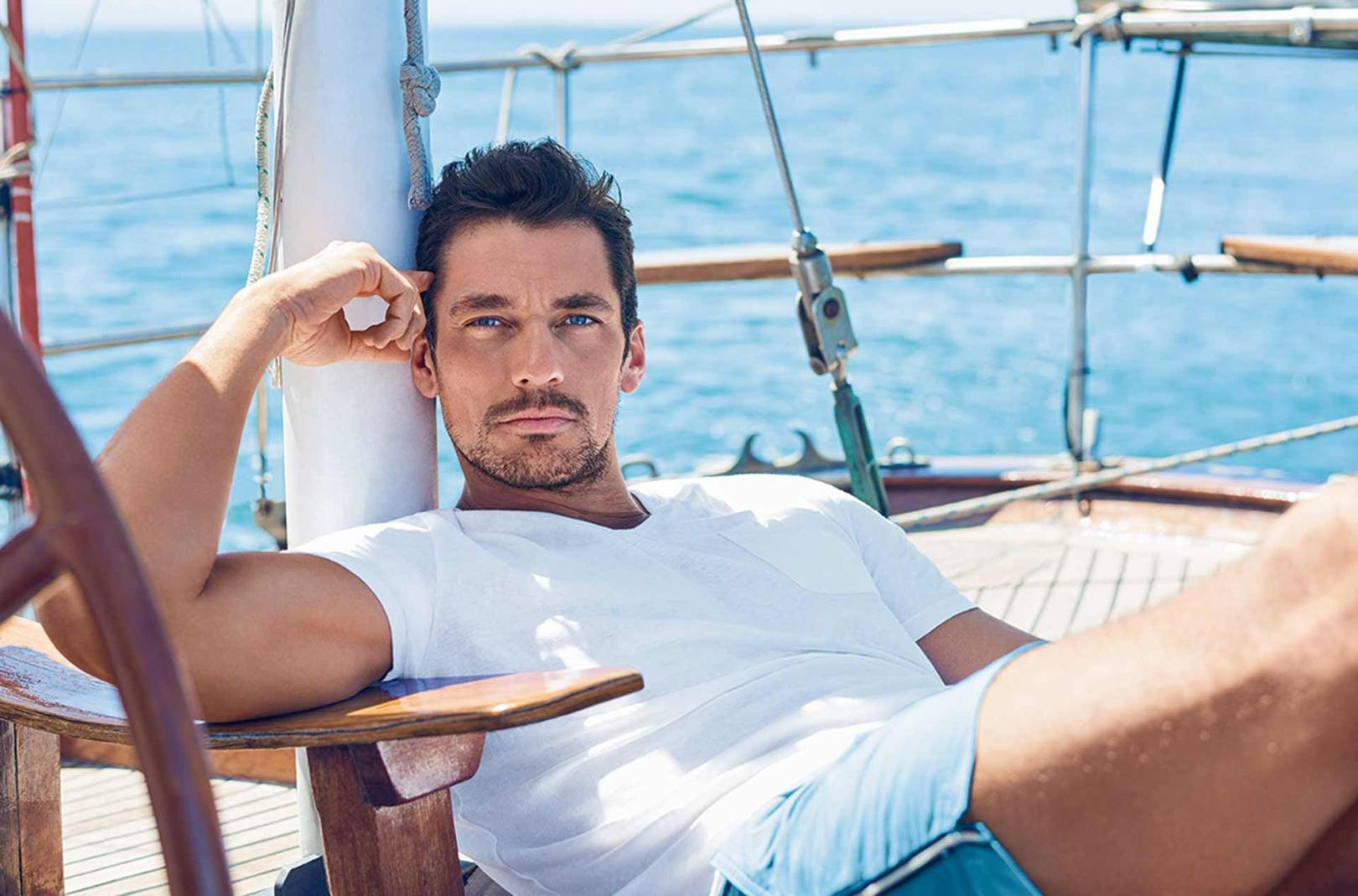 8480c103433ec Your first look at David Gandy's new beachwear line for M&S | Marks &  Spencer autograph swimwear 2017 | British GQ