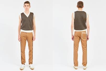 Daniel W Fletcher inside-out trousers