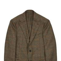 Ochre and Green Houndstooth Tweed Jacket by Drake's