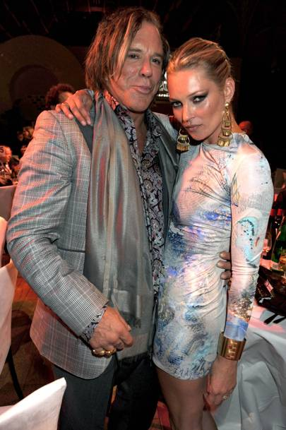 Mickey Rourke and Kate Moss