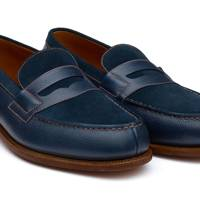JM Weston 180 bi-material loafers