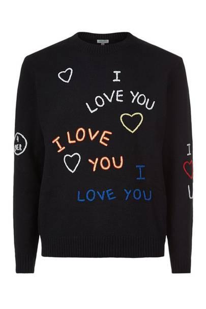 Kenzo 'I love u' sweater