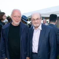 David Gilmour and Salman Rushdie