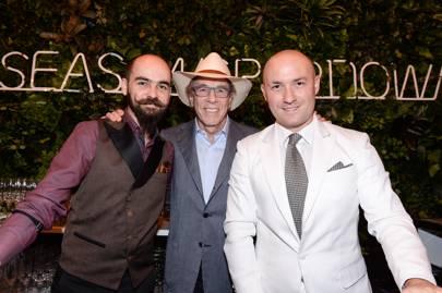 Michal Maziarz, Isadore Sharp and Lorenzo Antinori