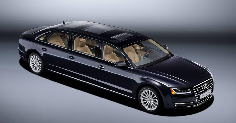audi a8 stretch limo audi has just built a massive a8. Black Bedroom Furniture Sets. Home Design Ideas