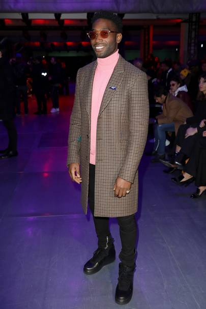 Tinie Tempah (same day, different outfit)