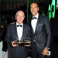 Sir Bobby Charlton and Rio Ferdinand