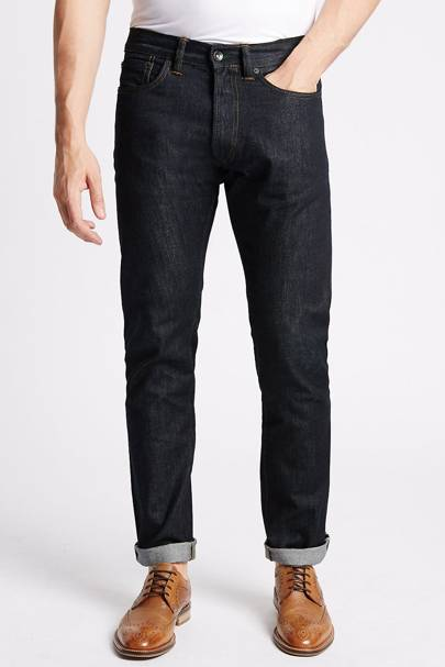 Marks & Spencer slim fit selvedge jeans