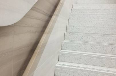 Handrails on the stairs