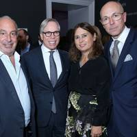 Sir Philip Green, Tommy Hilfiger, Alexandra Shulman and Dylan Jones