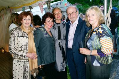Marjorie Wallace, Ruby Wax, Caroline Michel, Salman Rushdie and Rosie Boycott