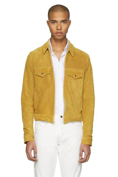 Empathy Los Angeles yellow suede jacket