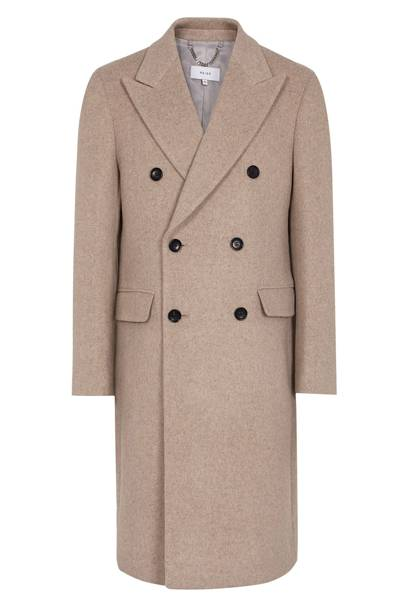 Double-breasted overcoat by Reiss