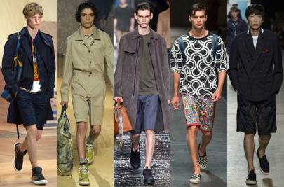 From left to right: Coach, Kenzo, Fendi, Dolce & Gabbana, Dries Van Noten