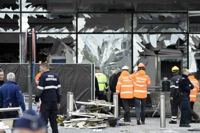 The aftermath of the attack on Brussels airport