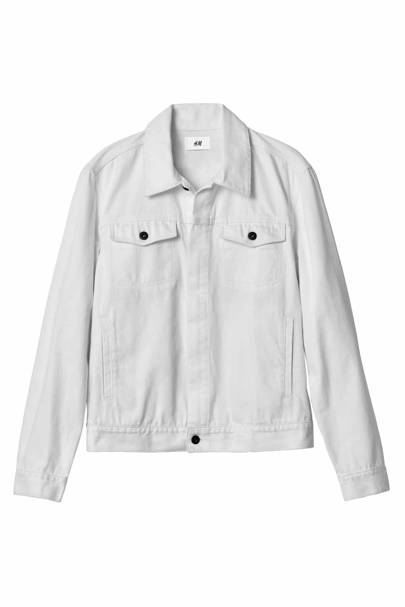 David Beckham H&M Modern Essentials white jean jacket