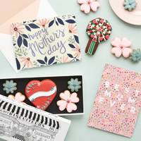 Papier card and biscuiteers boxed biscuit