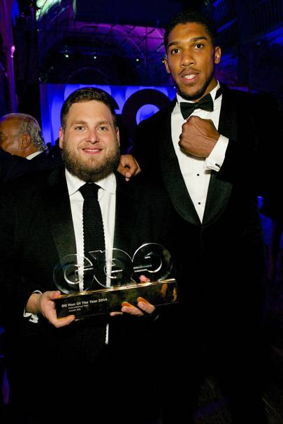 Jonah Hill and Anthony Joshua