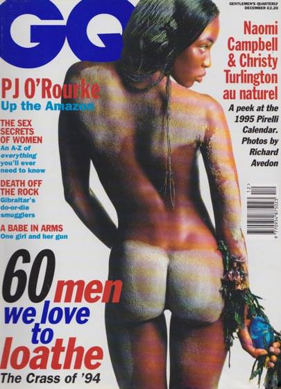 December 1994 - Naomi Campbell's first GQ cover