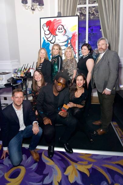 The Michelin team with Bradley Theodore and Nicki Shields