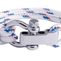 Regatta White Shackle Bracelet by Sail Swag