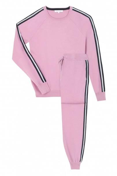 Olivia Von Halle malibu silk-blend sweatshirt and trackpants set