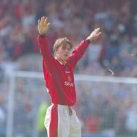 David Beckham scores from the halfway line