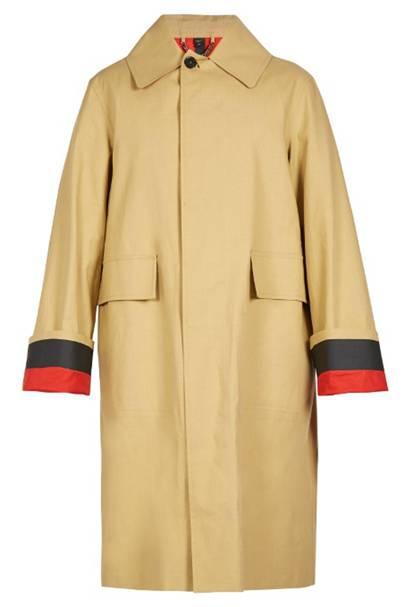 Point-collar bonded-cotton trench coat by Burberry