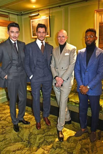 Hu Bing, David Gandy, Dylan Jones and Tinie Tempah