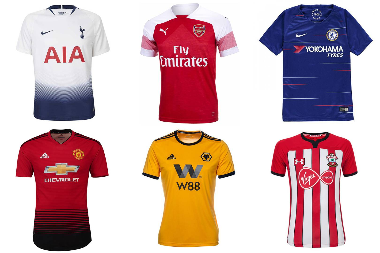 853c6763d43 Premier League kits 2018 19 ranked  from worst to best