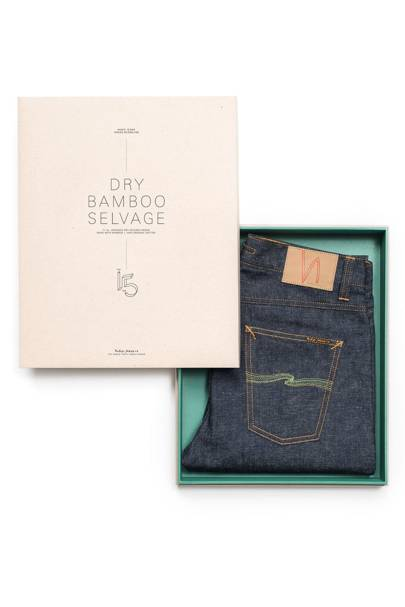 "Nudie Jeans ""Indigo Bloodline"" dry bamboo selvage jeans"