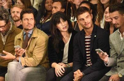 David Gandy, Daisy Lowe, Aljaz Skorjanec and Struan Moore