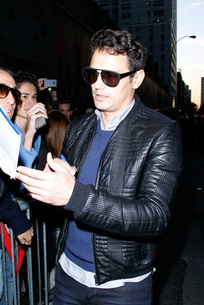 c666824d6b4b Franco brother s most stylish moments… When  14 October 2013. Where  Late  Show with David Letterman filming