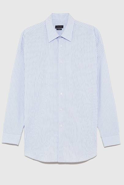 Panelled cotton shirt by Solid Homme