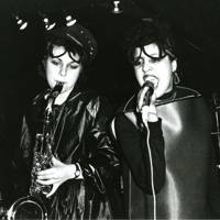 Laura Logic on sax with Polly Styrene on vocals