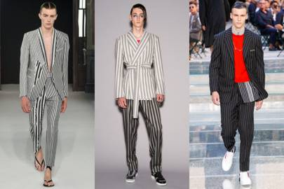 Get a vertical stripe suit
