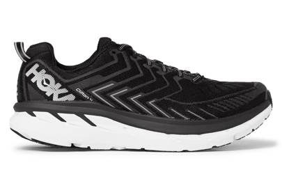 Hoka One One Clifton 4 Rubber-Trimmed Mesh Running Sneakers