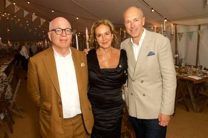 Michael Wolff, Caroline Michel and Dylan Jones