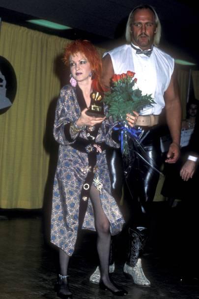 1985: Cyndi Lauper and Hulk Hogan