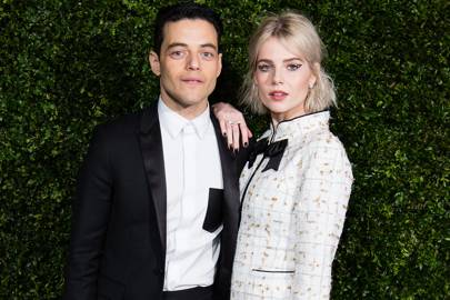 21ad0df8fd19 Rami Malek and Lucy Boynton are singing a Bohemian Rhapsody through their  couple dressing