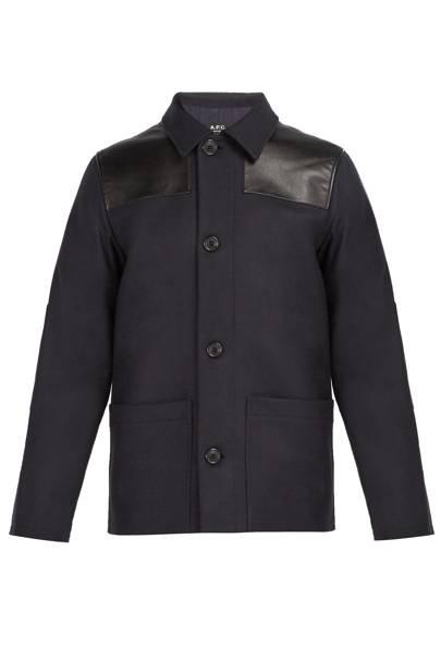Donkey wool-blend field jacket by APC