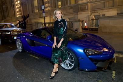 Nicki Shields in front of the McLaren 570S Spider