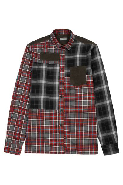 Checked panelled cotton shirt by Lanvin
