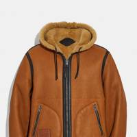 Reversible shearling hoodie by Coach