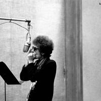 Bob Dylan at the recording studio in 1965