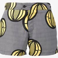 Okun 'Patrice Melon' printed swim shorts