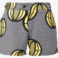 Okun 'Patrice Melon' printed swim shorts