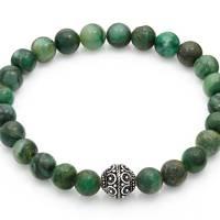 Jade & Silver Bali Bracelet by Stephen Oliver
