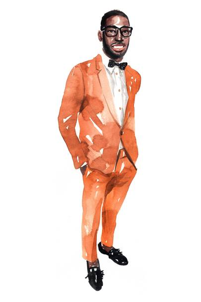 Orange is the new black tie